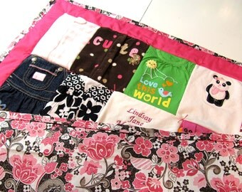 Baby clothes Blanket. Baby clothes quilt. Toddler/ Crib Sized custom quilt. CUSTOM Made Quilt from your little one's clothing.
