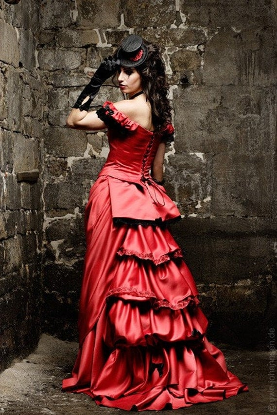 Items Similar To Victorian Red Wedding Dress Tuxedo On Etsy