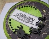 Handmade Halloween Card - Spooky Spiders - READY TO SHIP