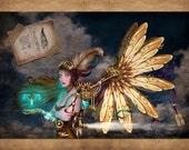 Firefly - steampunk fairy aviator - Brigid Ashwood