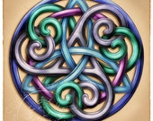 Celtic Knotwork Brigid Ashwood Signed Print