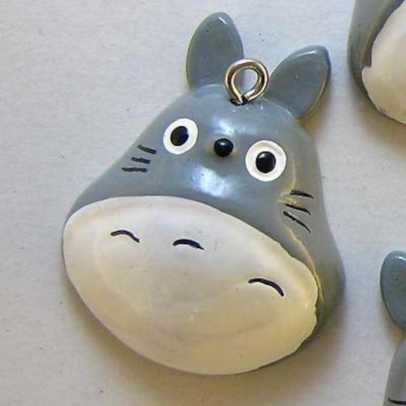 B497- 4pcs Totoro Plastic Charms