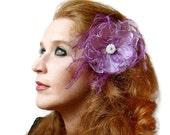 Destash Clearance Sale Lavender Feather Flower Fascinator Hair Accessory
