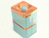 Coffee tea tin boxes set of 2