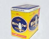 Cigar tin box white owl