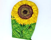 Oven mitt glove sunflower hot pad Boston warehouse