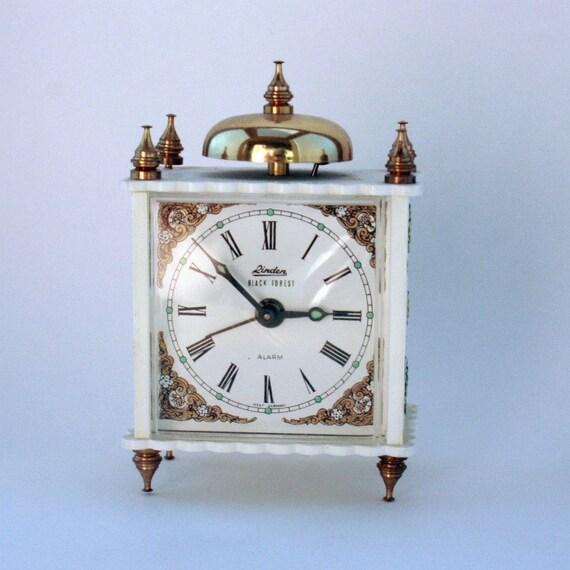 Alarm Clock Linden Black Forest West Germany