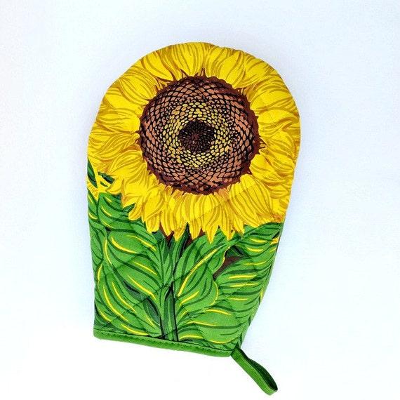 Oven mitt glove sunflower hot pad Boston warehouse