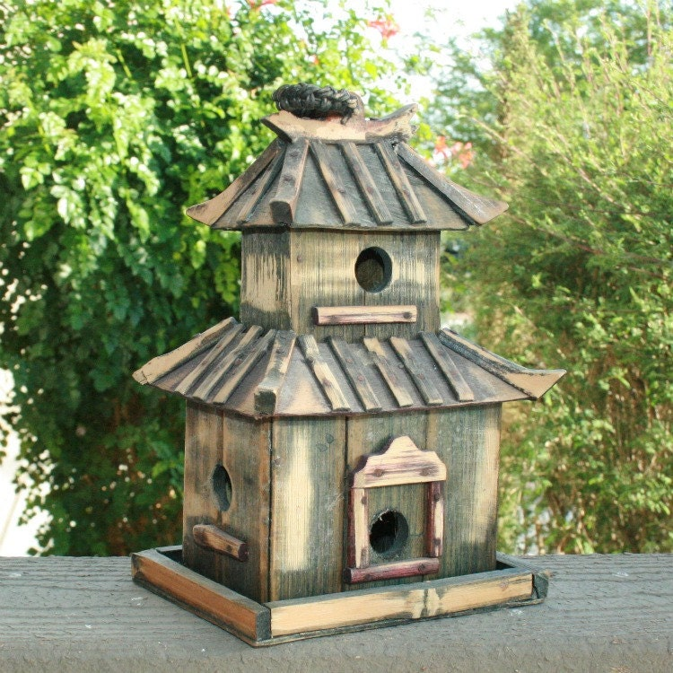 Japanese Pagoda Bird House wooden