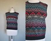 LAST DAY   1970s Sweatervest / Sleeveless Sweatervest
