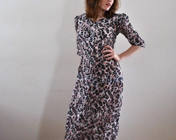 Sheer Robe / Leopard Print Robe / Vintage Sexy Cheetah Sheer Robe Dress / Woman's Sheer Robe Vintage / Leopard Print Robe