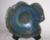 Large Blue Sculptural Bowl