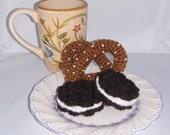 Sale Crochet Pretzel  Cookies Salty and Sweet