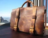 John Messenger bag / laptop bag / computer satchel / handmade leather messenger / 5 pocket leather satchel / handmade leather bag