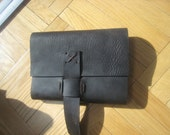 Leather journal refillable handmade handstitched by Aixa Sobin Luscious Leather NYC on Etsy