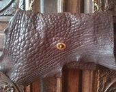 Boulevard Clutch / Brown Leather Clutch / Soft Lambskin Handbag / Brown Leather Purse /  Lambskin Clutch Bag / Cross Body Clutches /