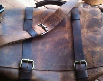Convertible backpack shoulder bag, Leather messenger bag for men, Convertible backpack, Leather backpack briefcase, Leather satchel for men
