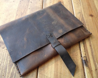 Morton iPad case / Leather iPad Case / Rugged Rustic Leather / Handmade Leather iPad Case / Custom iPad Cases & Covers / Handstitched