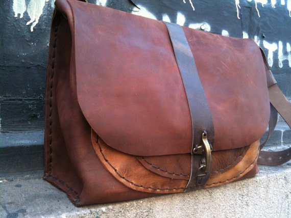 Reserved Made to order leather bag -handsewn by Aixa on Etsy