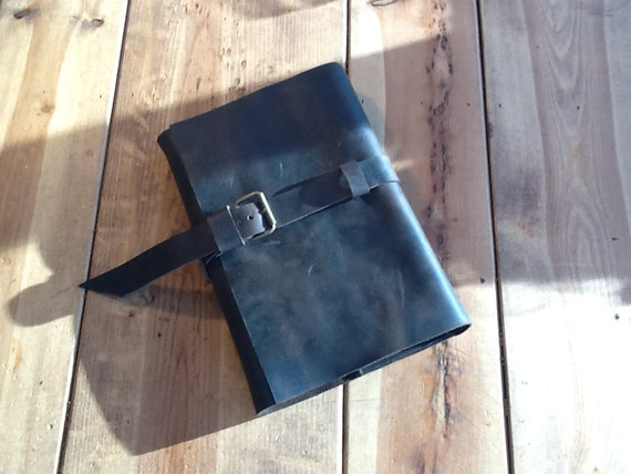 Reserved Large journal leather refillable hand stitched by Aixa on Etsy
