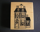 PSX Vintage Rubber Stamp Victorian House