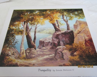 TRANQUILLITY  --Printed note cards of original Oil Landscape --artist note cards-oil painting--prints