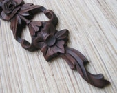 Reclaimed Wood Carving, Onlay - VERY RARE reclaimed cherry wood decoration, 5 dollar shiping SALE