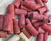 Red Wine Corks - eco crafting supply, upcycle, craft, DIY