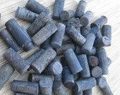 Craft Wine Corks - Denim Blue - eco crafting supply, DIY wine corking