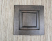 Glazed Cabinet Door - reclaimed wood - art supply - wall art - create your own art - gunmetal grey