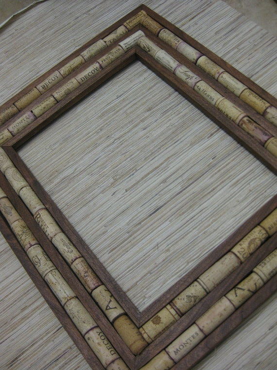Sustainable DIY Wine Cork Frame Kit - made from reclaimed wood