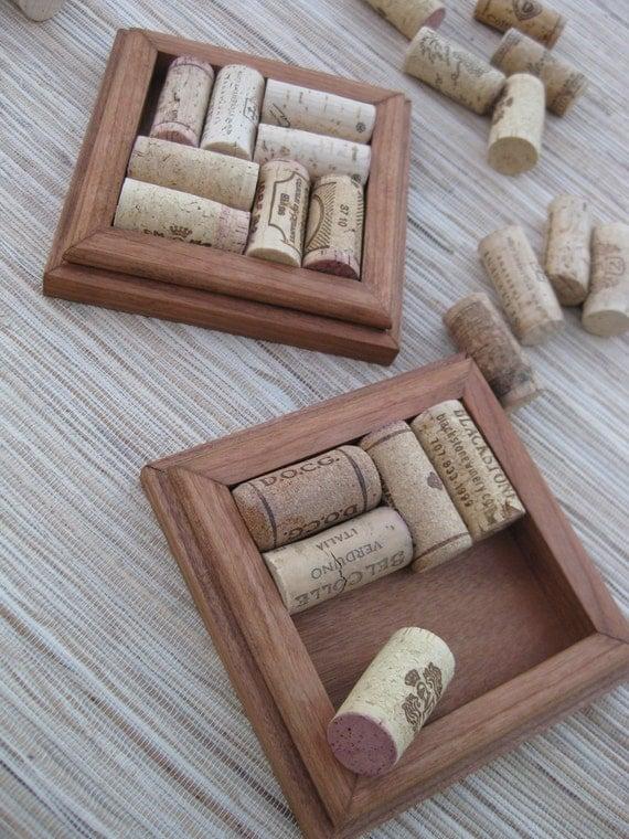 Rustic brown wine cork coasters diy craft set of 2 for Diy rustic coasters