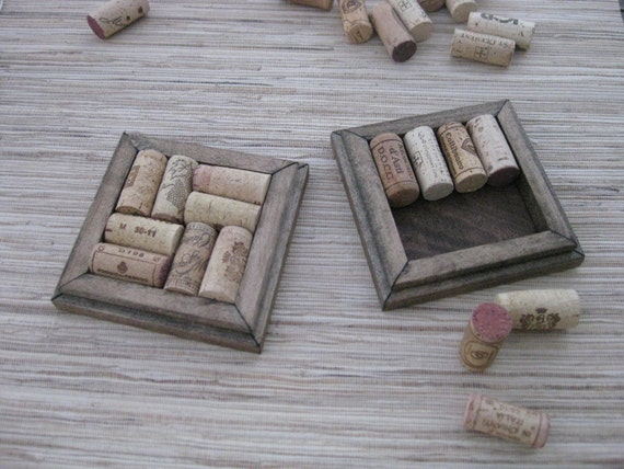 Crafts with Corks - DIY Wine Cork Coasters - reuse your wine corks - reclaimed wood