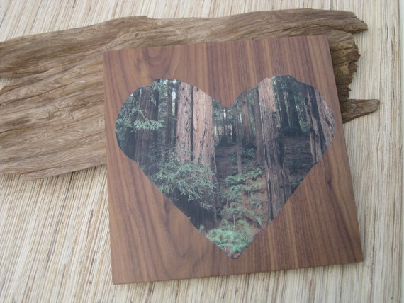 Recycled Wall Art - Earth Day Heart made from reclaimed wood, recycled materials, green artwork
