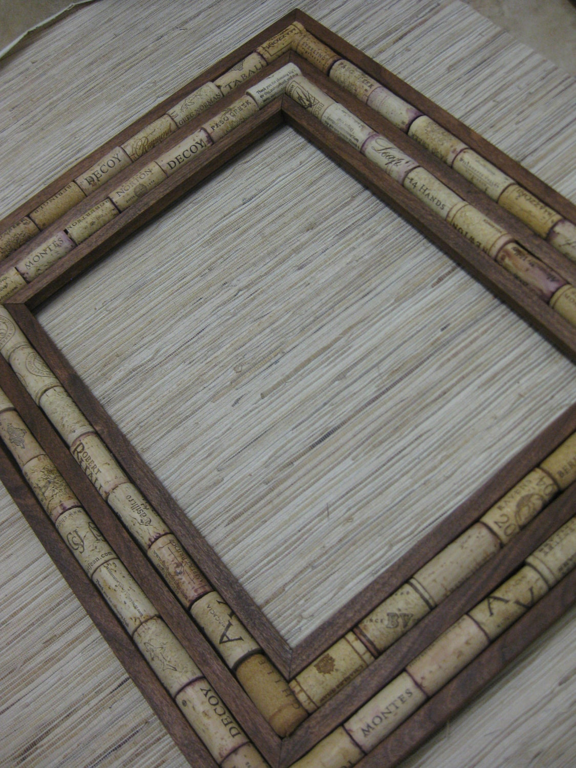 Sustainable Diy Wine Cork Frame Kit Made From Reclaimed Wood