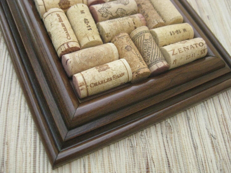 Wine cork coaster craft diy coaster dark brown on for Cork coasters for crafts