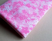 Vintage Floral Textured Pink Polyester Fabric 1.5 Yards