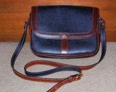Bally black and mahogany brown shoulder handbag