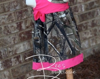 Girls camo dress Custom