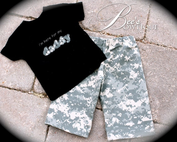 "BOYS ACU ABU Welcome home set ""I'm here for my daddy"""
