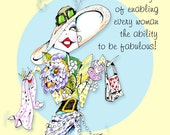 This woman humor art with text is ideal for anyone who worships at the alter of accessories - Fab' art with a  fab' message -