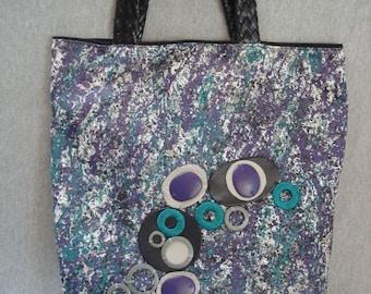50% OFF WITH COUPON Green, Black and Purple Handbag