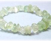 Stretch Bracelet - Gemstone Bracelet -Green Fluorite Jewelry, Bead Bracelet, Gemstone Jewelry