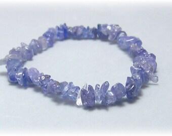Stretch Bracelet - Gemstone Bracelet - Tanzanite Bracelet, Bead Bracelet, Gemstone Jewelry