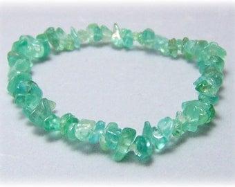Stretch Bracelet - Gemstone Bracelet - Apatite Bracelet, Chip Bracelet, Gemstone Jewelry
