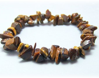 Stretch Bracelet - Gemstone Bracelet - Tiger's Eye Jewelry, Bead Bracelet, Gemstone Jewelry