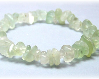 Stretch Bracelet - Gemstone Bracelet -Green Fluorite Jewelry, Bead Bracelet, Gemstone Jewelry