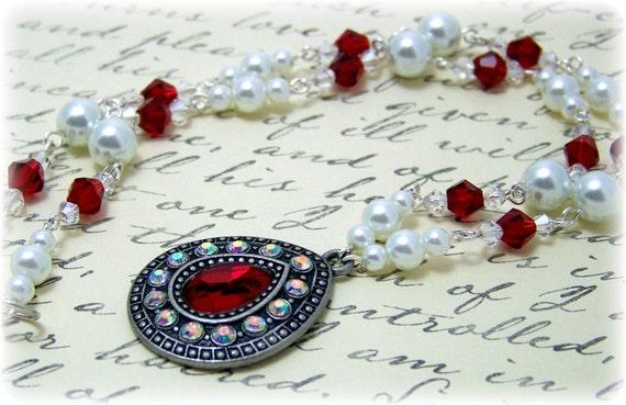 Medieval Necklace - Renaissance Necklace - Medieval Jewelry - Renaissance Jewelry, Tudor Jewelry, Tudor Necklace, Elizabethan