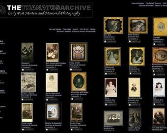 TEN Antique Tintype & CDV Photos PLUS! Membership to The Thanatos Post Mortem Photo Archive