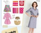 Lisette Simplicity Pattern 2246 / 0451 Traveler Dresses sz 14 16 18 20 22
